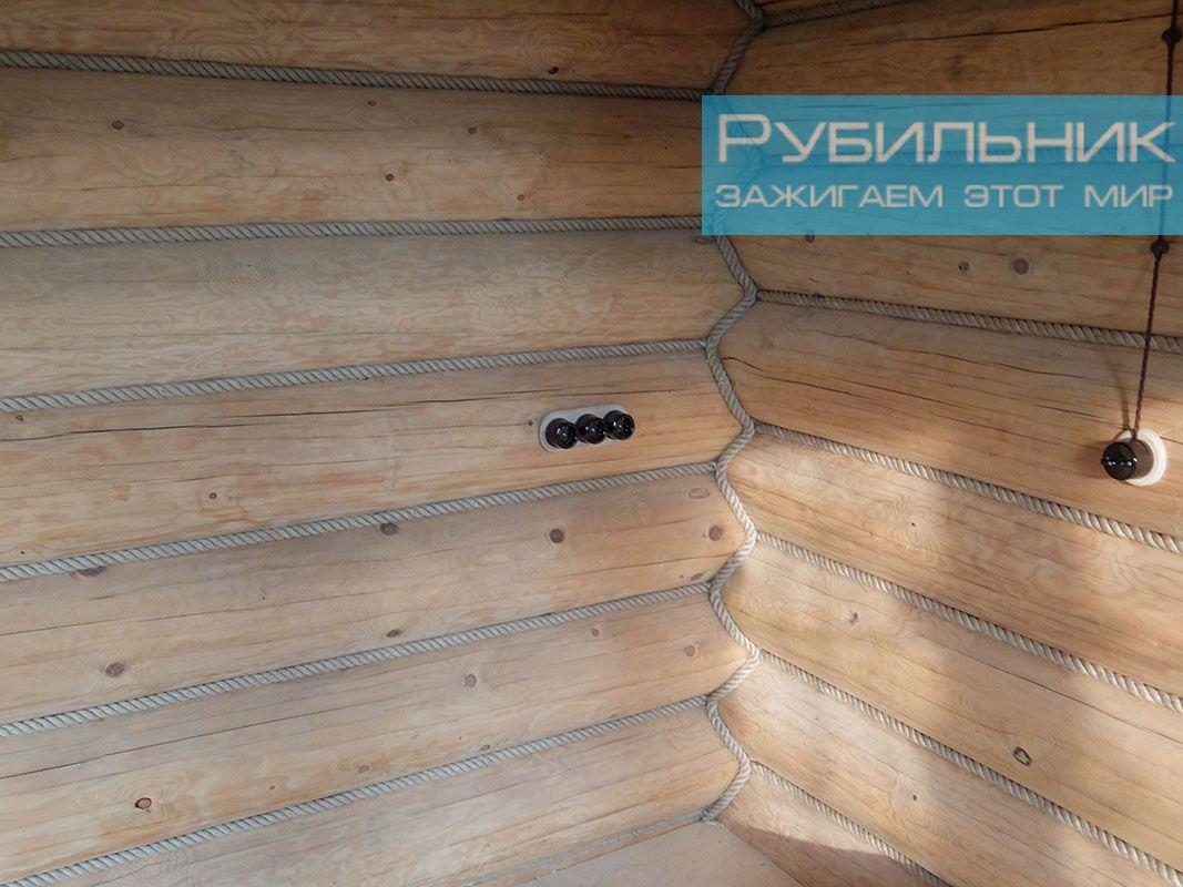 Сколько стоит сделать ретро проводку в деревянном доме в Москве