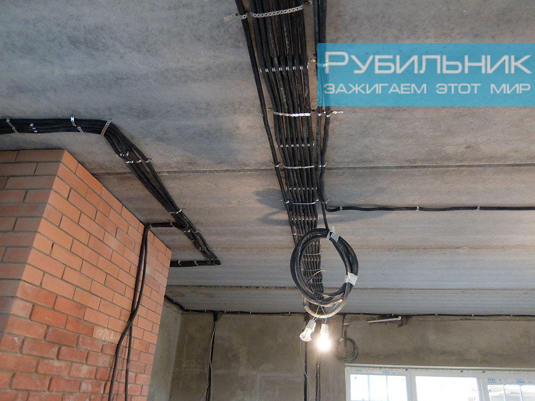 Монтаж внутренней электропроводки в доме