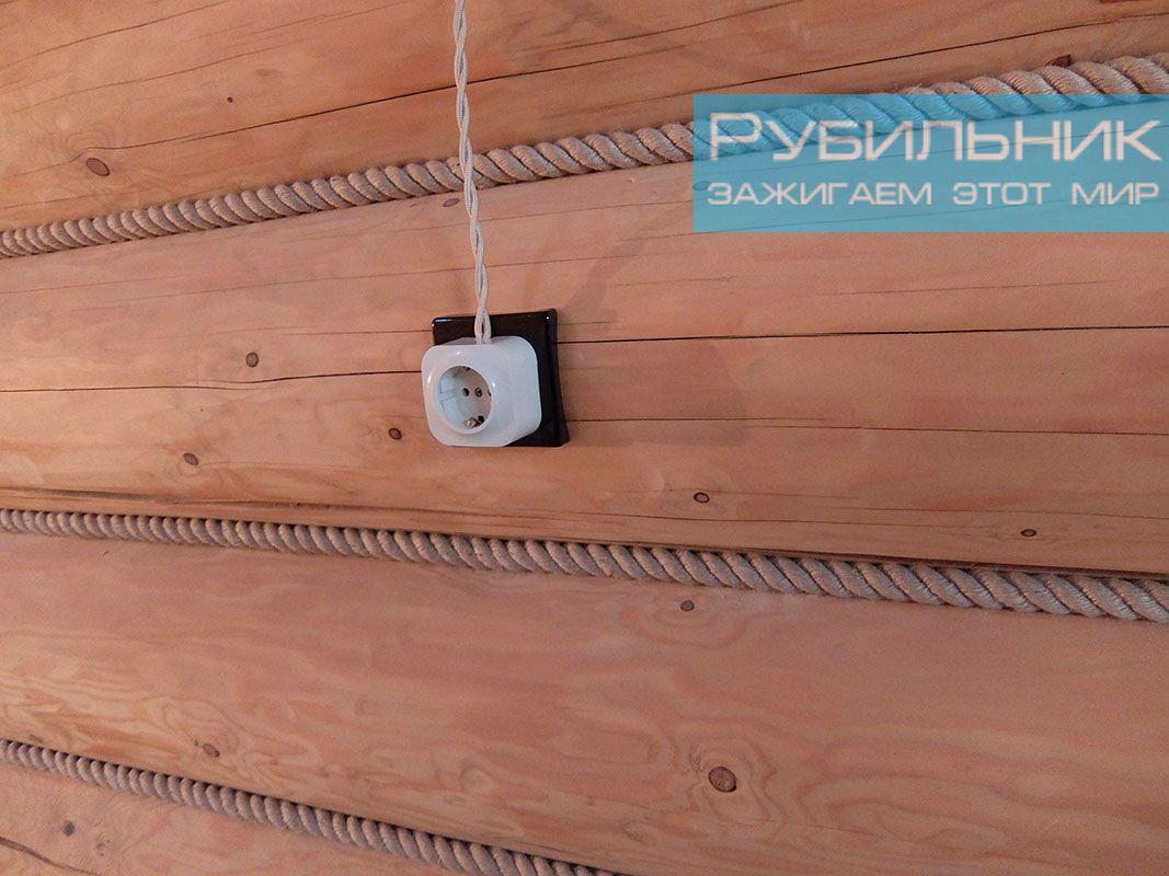 стоимость электромонтажных работ в деревянном доме